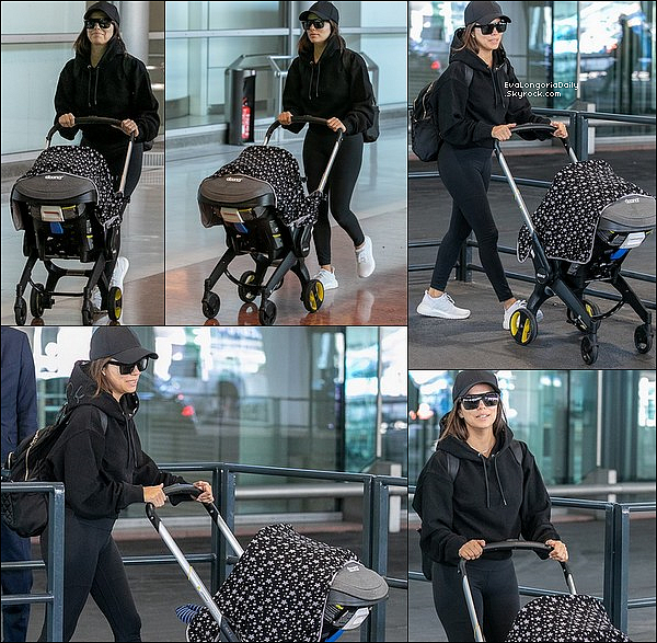 • 23 Septembre 2o19 •  - Paris, France. ✈️ Eva & Santiago ont été vus à « L'Aéroport Charles De Gaulle ». Tenue: Lunettes Victoria Beckham & Pull  Victoria Beckham à 225¤.
