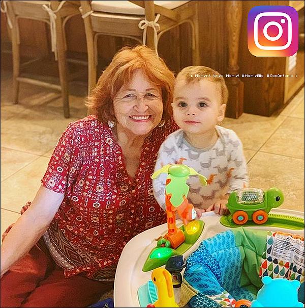 📷 Eva a publié une Photo de Santi & sa mamie Ella.  13 Octobre 2o19. San Antonio - Etats-Unis.