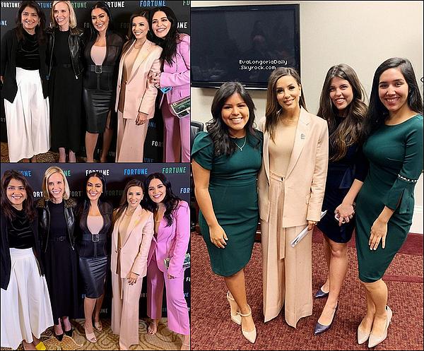• 24 Octobre 2o19 •  - Santa Monica, Etats-Unis. ⭐ Puis, Eva est allée à « The Wrap's Power Women Summit » qui avait lieu au « Fairmont Miramar Hotel ». Tenue: Combinaison Balmain.