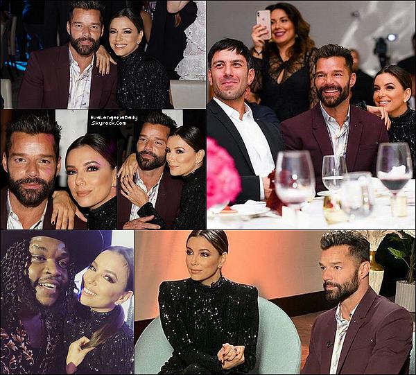 ⭐ Eva & Pepe sont allés au Global Gift Gala qui avait lieu au Eden Roc Hotel.  o5 Décembre 2o19. Miami - Etats-Unis. Tenue: Eva porte une Robe Abyss by Abby & des Escarpins Yves Saint-Laurent.