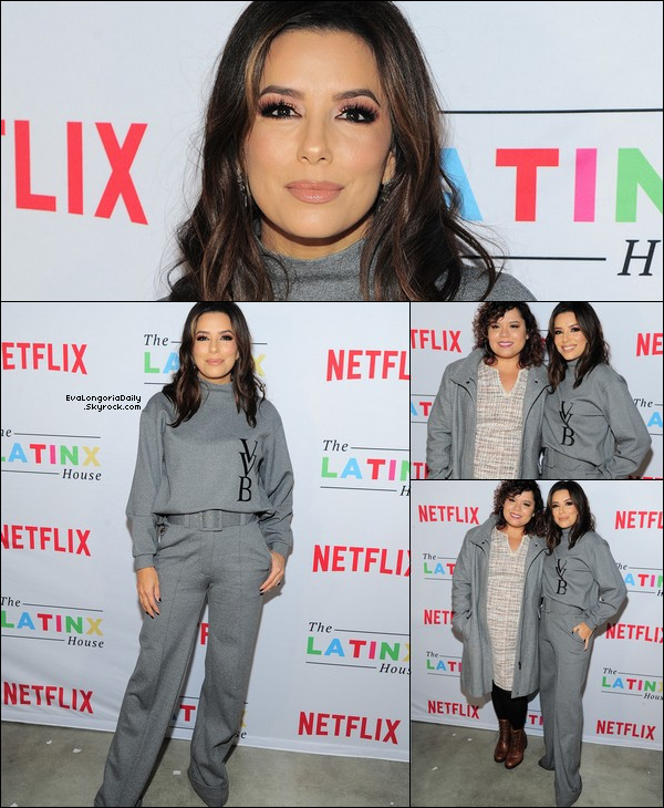 • 24 Janvier 2o2o •  - Park City, Etats-Unis. ⭐ Eva est allée à « The Latinx House And Netflix Host Their Joint Kick-off Party ». Tenue: Pull Victoria Beckham à 23o¤, Sac Victoria Beckham & Pantalon Victoria Beckham à 33o¤.