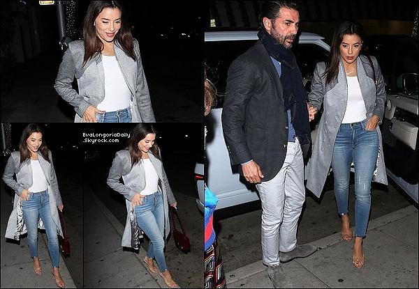 • o3 Février 2o2o •  - Beverly Hills, Etats-Unis. 🍴 Eva & Pepe sont allés dîner à « Mr Chow Restaurant ». Tenue: Sac Hermès à 375oo¤ & Escarpins Gianvito Rossi à 67o¤.