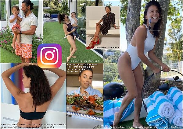 • 25 Mai 2o2o - 31 Mai 2o2o •  - Los Angeles, Etats-Unis. 📷 Eva nous a partagé des « Photos & Vidéos » lors du Confinement. Tenue: Maillot de Bain Noir Myra Swim à 14o¤, Maillot de Bain Blanc Myra Swim & Sandales Rouges Eva Longoria Eobuwie à 1oo¤.