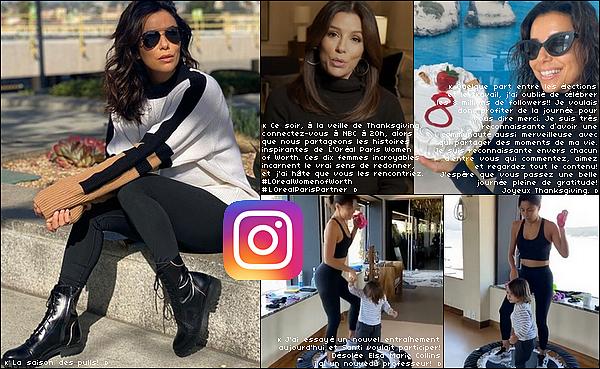 • 23 Novembre 2020 - 29 Novembre 2o2o •  - Los Angeles, Etats-Unis. 📷 Eva nous a « Partagé des Photos ».