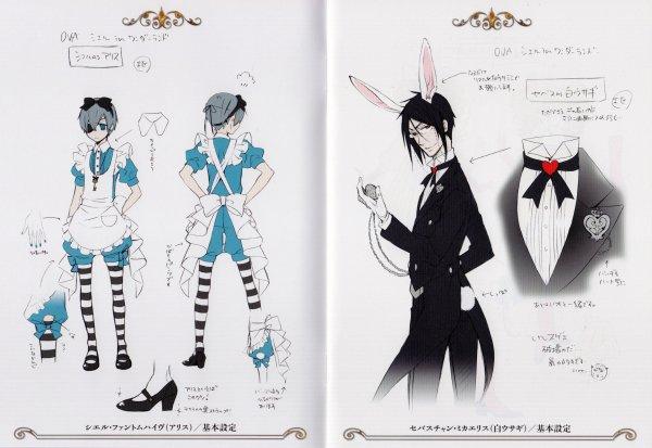 Characters Design [Ciel et Sebastian omake]