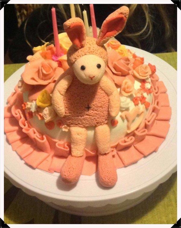 Gateau d anniversaire de ma lilly 4 ans decoration son - Tchoupi l anniversaire de doudou ...