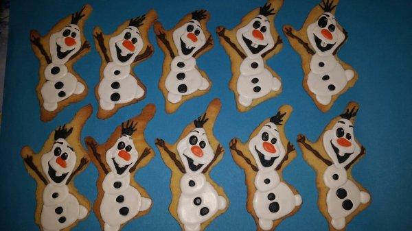 Biscuit olaf de la reine des neiges