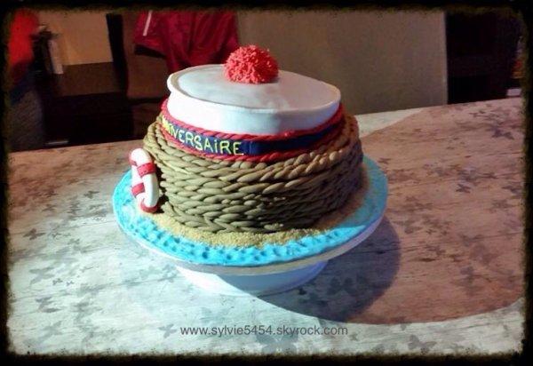 Gateau d anniversaire pour les 60 ans d un marin
