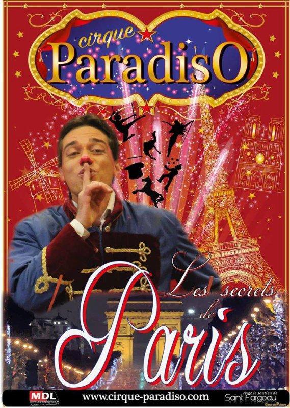 L'affiche 2017 du cirque paradisio !