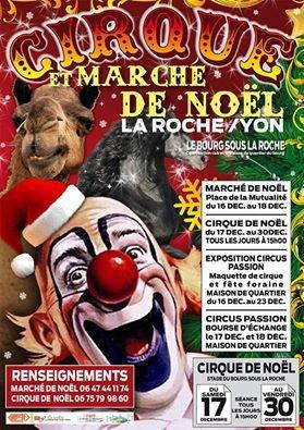Cirque et marché de noël à la roche-sur-yon cet hiver