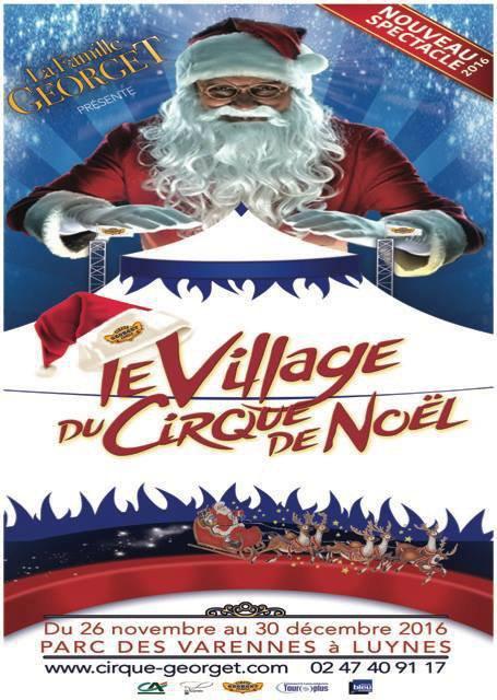 Le village du cirque de noël cet hiver avec le cirque georget !