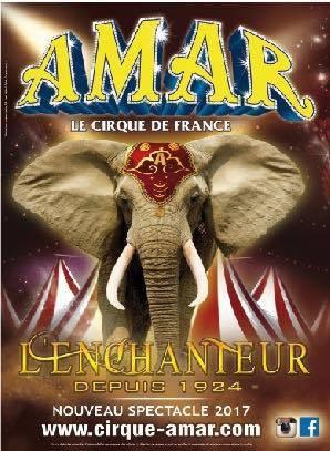 Exclusivité : l'affiche 2017 du cirque Amar !