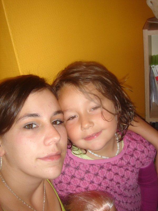 moi et ma fille la prunelle demes yeux