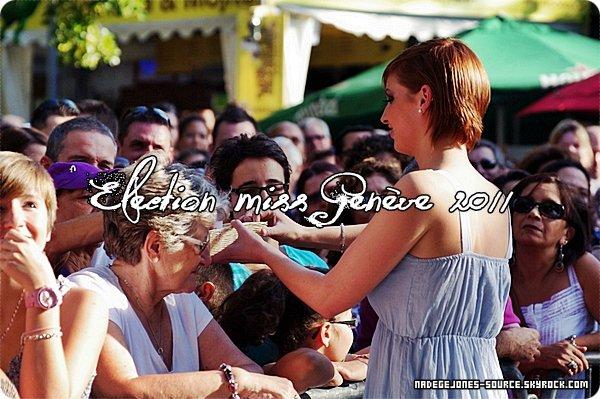 """En 2010 Nadège avait été élu miss Genève 2010, puis en 2011 elle à remit sa couronne à celle qui à prit sa place. """"Miss Genève 2011"""""""