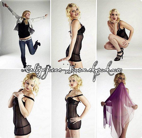 Les photoshoots dénudés de la belle Suissesse.