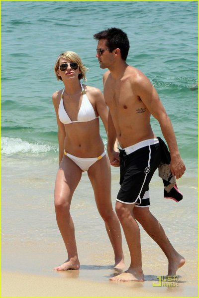 Chelsea Kane and Stephen Coletti at the beach