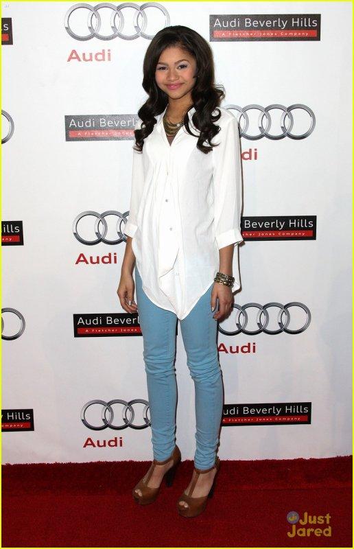Zendaya Opens Audi at Beverly Hills