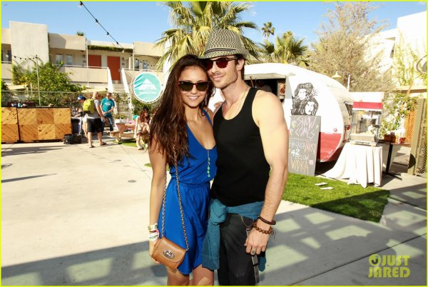 Ian Somerhalder & Nina Dobrev: Burton Pool Party!