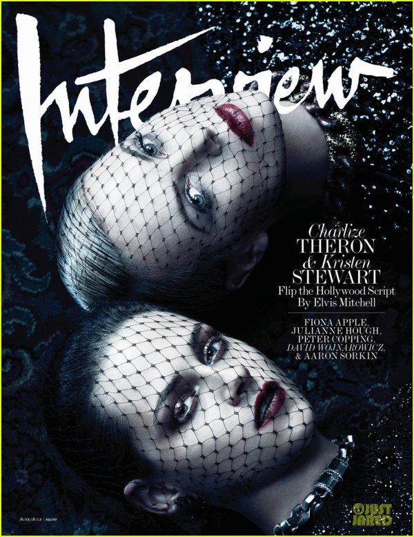 Kristen Stewart & Charlize Theron Cover 'Interview' June/July 2012