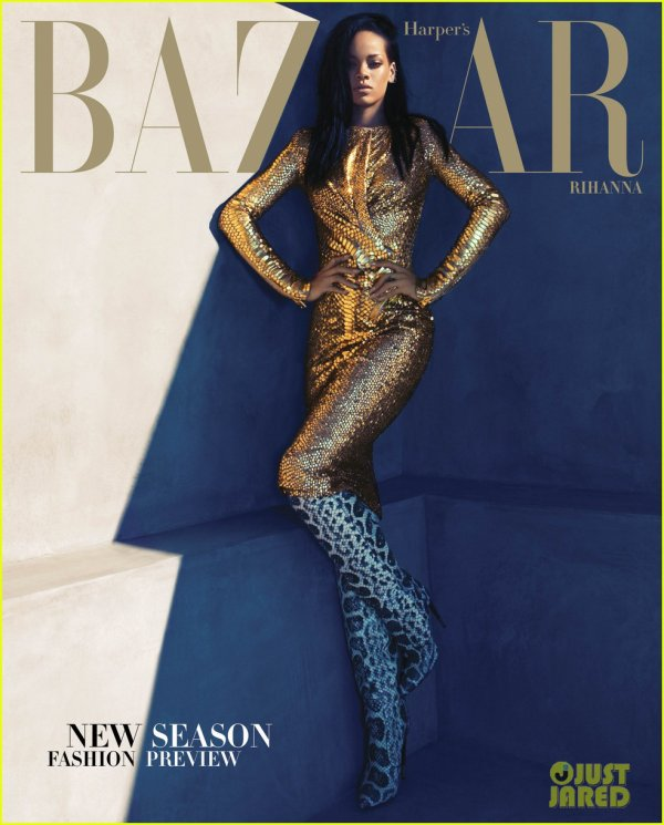 Rihanna Covers 'Harper's Bazaar' August 2012