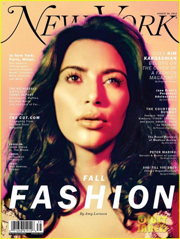 Kim Kardashian Covers 'New York' Magazine's Fashion Issue
