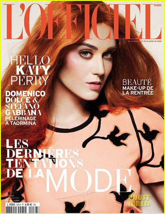 Katy Perry: Red Hair for 'L'Officiel' Magazine