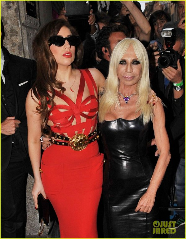 Lady Gaga: Milan Meeting with Donatella Versace!