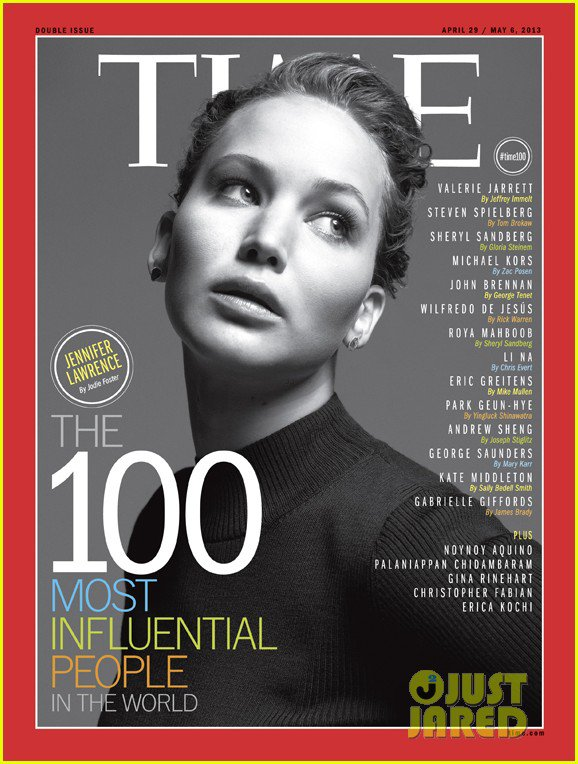 Jennifer Lawrence Covers Time's 100 Influential People Issue