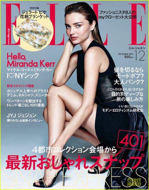 Miranda Kerr Drops It Low For 'Elle Japan' December 2013