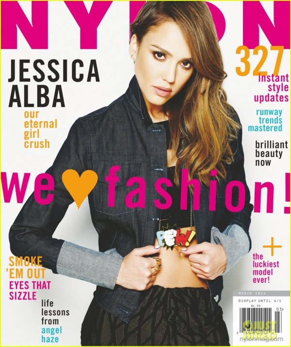 Jessica Alba : Nylon magazine's March 2014