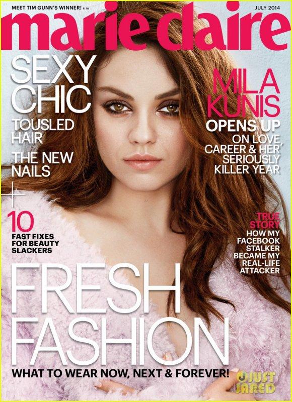 Mila Kunis:  Marie Clarie  July 2014