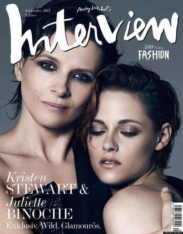 Kristen Stewart & Juliette Binoche Covers Interview Magazine