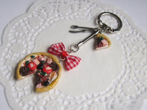 Porte-clef pizza