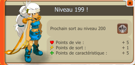 Le up de féca lvl 199