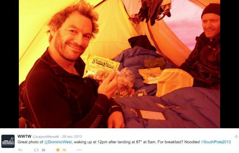 Dominic West en Antarctique ...