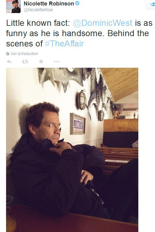 -- divers Tweets de Dominic dans The Affair --