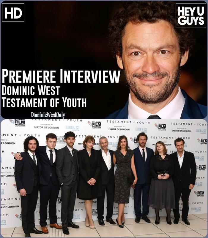 Dominic West ,pour le filmTestament of Youth