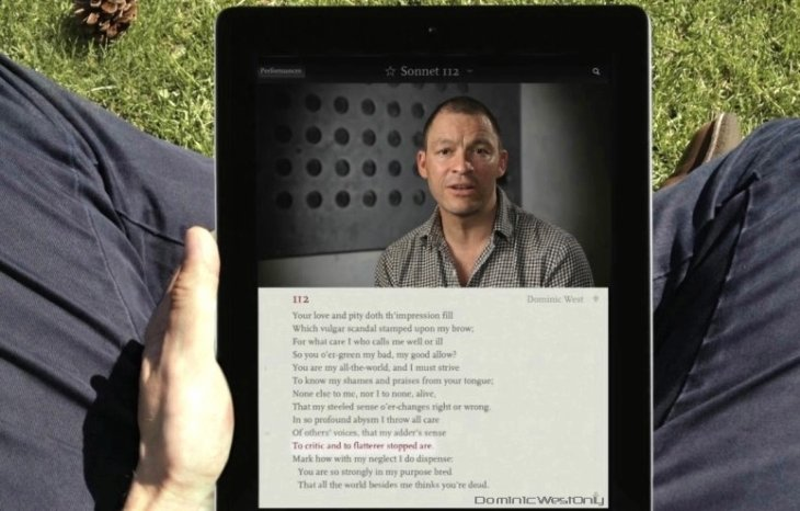 Dominic West récite Shakespeare sonnet 112
