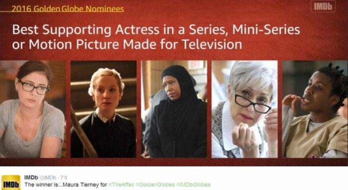 Maura Tierney a gagné aux golden Globes pour The Affair saison 2