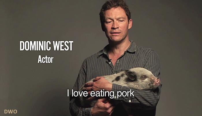 """Dominic pour la cause """"Pig """""""