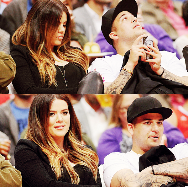 "FRENCH SOURCE OF ROB DASH Le 06/03/ 2013: Rob a était vu, avec Khloé au match ""Los Angeles Clippers VS Milwaukee Bucks""   FRENCH SOURCE OF ROB DASH"