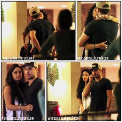 28/11/10 Quelques captures floues d'un baiser entre Zac & Vanessa après un dîner en amoureux pour Thankgiving au restaurant Waikiki à Hawaïi.
