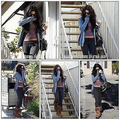 28/12/10 : Vanessa sortant du salon de soin de peau de Ricki Criswel en se cachant à Los Angeles