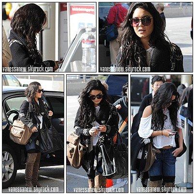 16/01/11   Vanessa arrivant à LAX airport, Nessa n'étais donc pas présente aux Golden Globes awards + Vanessa aurais vu Zac dans l'après-midi → Via Twitter