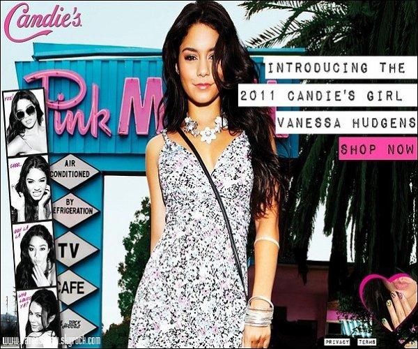 -   Nouveau photoshoot de Vanessa pour la marque Candie's dont elle succède Britney Spears en tant qu'égerie de la marque.   J'adore, j'aime beaucoup l'originalité du shoot, on peu dire que Nessa n'a pas fini de nous surprendre durant cette année.Vous aimez ?  -