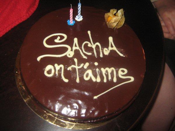 Gâteau d'anniversaire pour Sacha à PORT AVENTURA