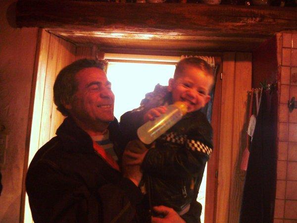 Sacha et son papy