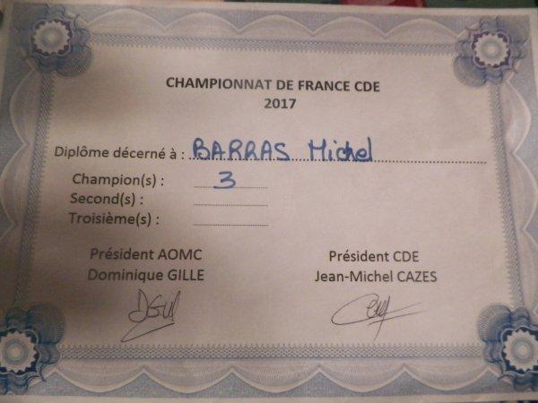 championnat de france CDE 3 titres 2017