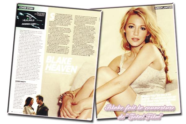 """11/06/11 : Blake fais la couverture du magasine """" Total Film """""""
