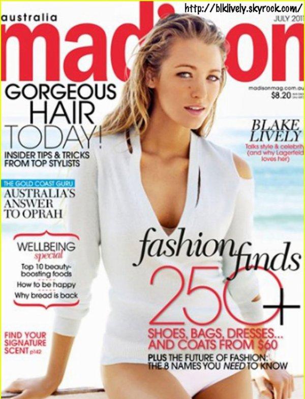 """Blake fais la couverture du magasine """" Madison """""""